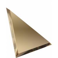 Треугольная зеркальная плитка бронза 300x300 мм