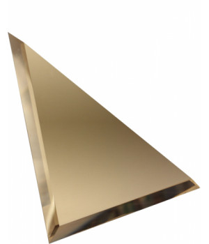 Треугольная зеркальная плитка бронза 300х300 мм