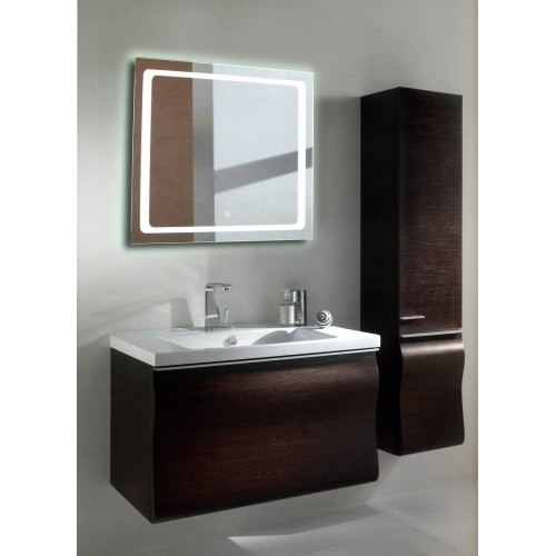 Квадратное зеркало с подсветкой в ванной Катро